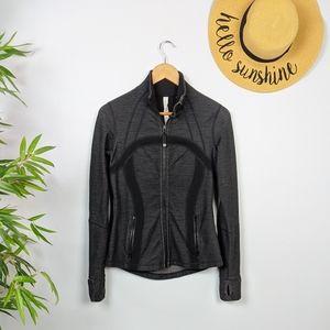 Lululemon Define Jacket Slub Denim Grey Black 6